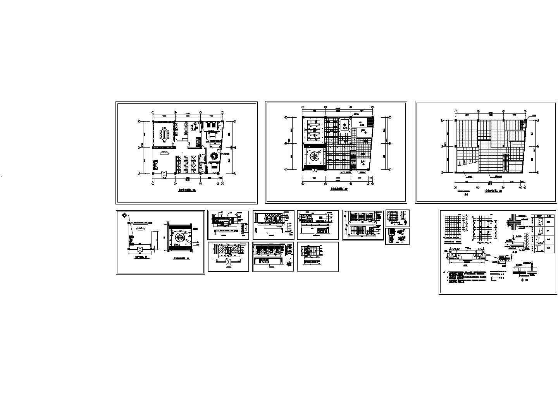 某地区公司多间办公室精装修设计装饰图纸图片1