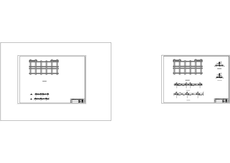 1550.7平米三层机械厂办公楼结构平面施工cad图纸图片1