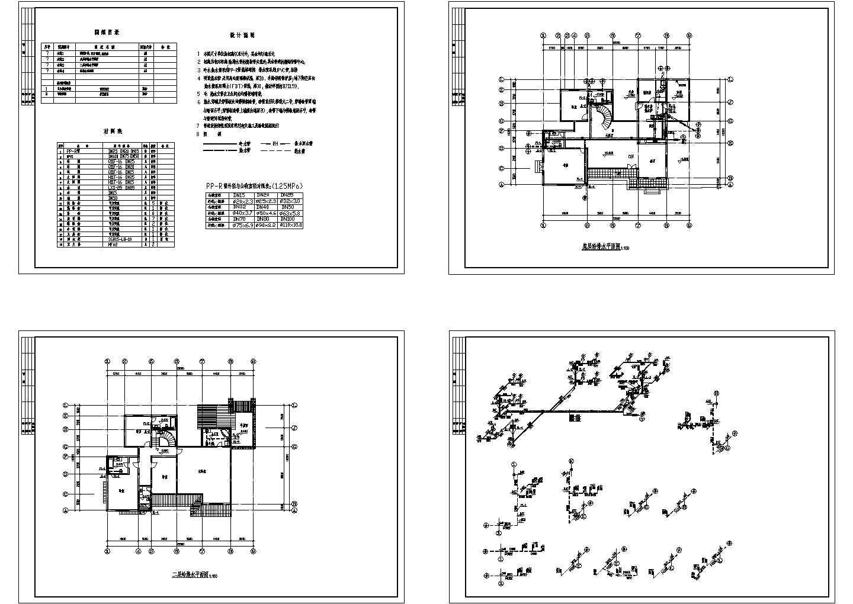 苏式江南二层别墅全套建筑结构施工图图片1