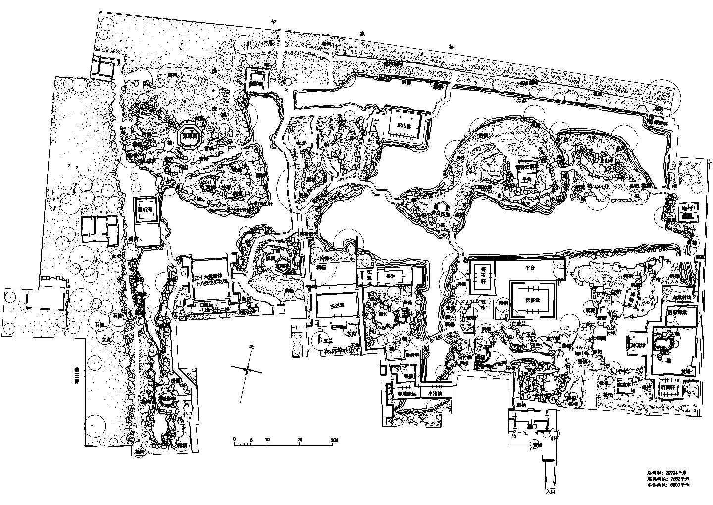 苏州园林之拙政园绿化图纸图片1