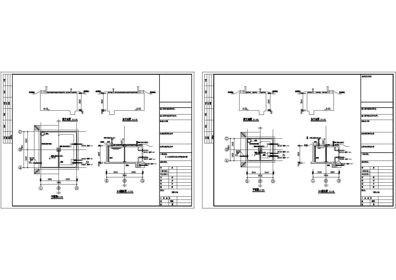 消防水池建筑设计CAD施工图图片1