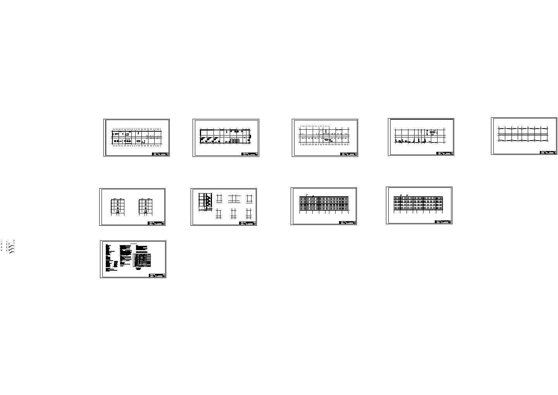 2000�O综合办公楼结构施工cad图,共十五张图片1