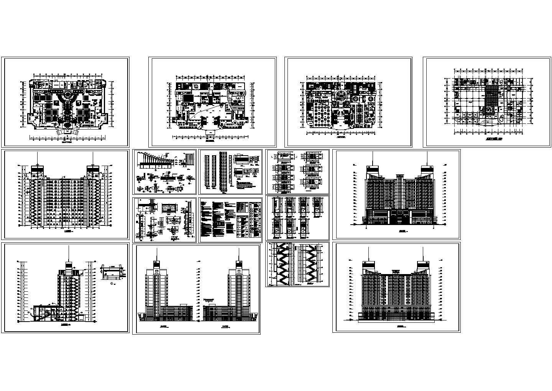 假日广场酒店式公寓建施cad图,共十六张图片1