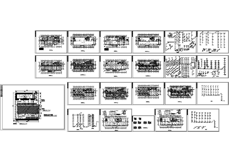 某市医院给排水全套cad图(含卫生间给排水大样平面图)图片1
