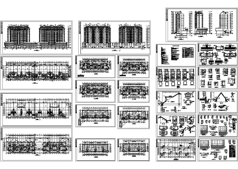 某11层带底商的小高层住宅楼建筑设计CAD施工图图片1