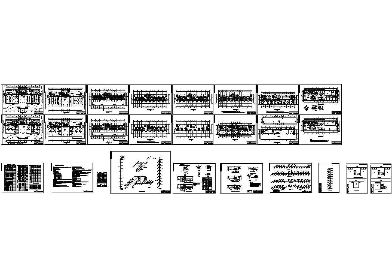 最新整理的行政大楼空调工程CAD设计图图片1