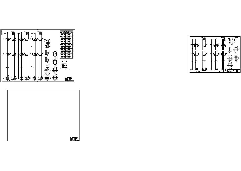 4435.55平方米五层钢框架办公楼结构施工cad图纸图片2