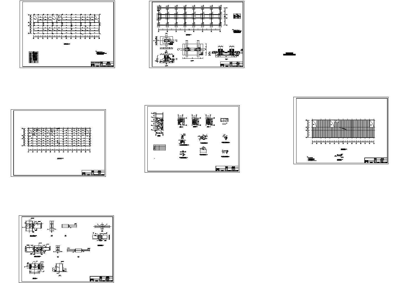 4435.55平方米五层钢框架办公楼结构施工cad图纸图片3