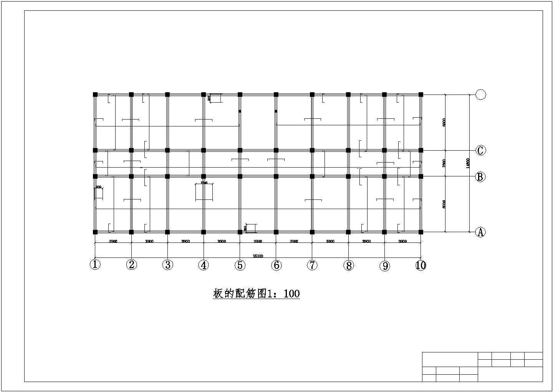 3116.88平方六层框架办公楼结构施工cad图纸图片3