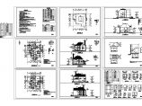 2层别墅住宅楼装修设计建施cad图,共九张图片1