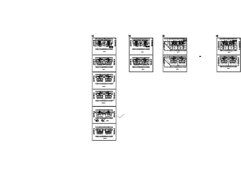 某地一套公寓式酒店暖通设计图(标注详细)图片1