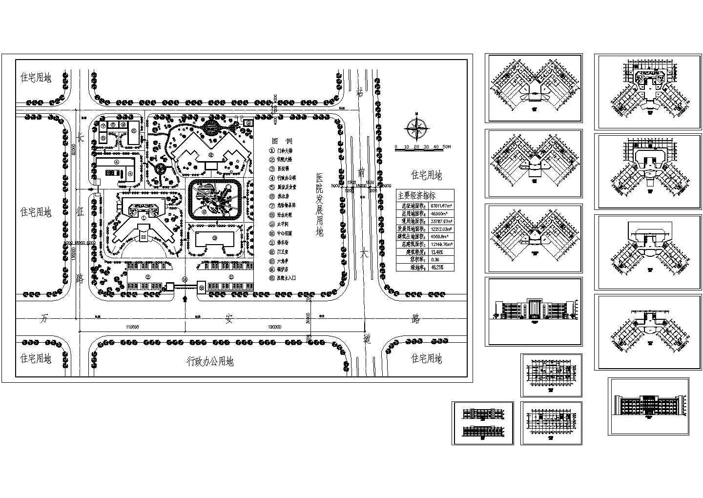 某市长征路某医院规划图及各层平面图图片1