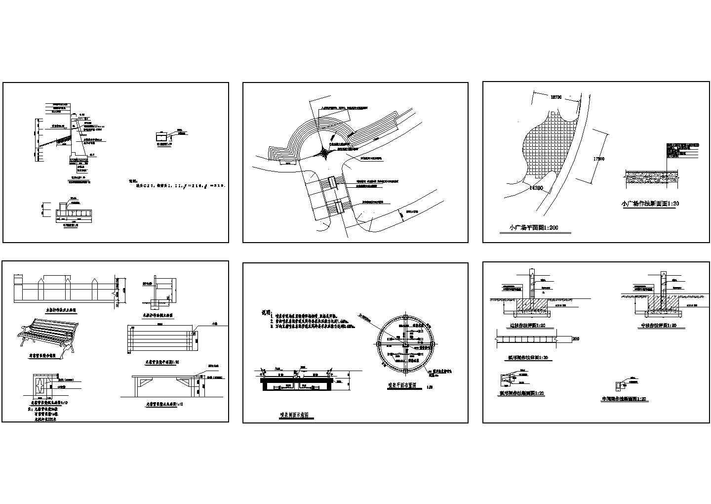 某地园林设计施工cad图(含小广场平面图)图片1