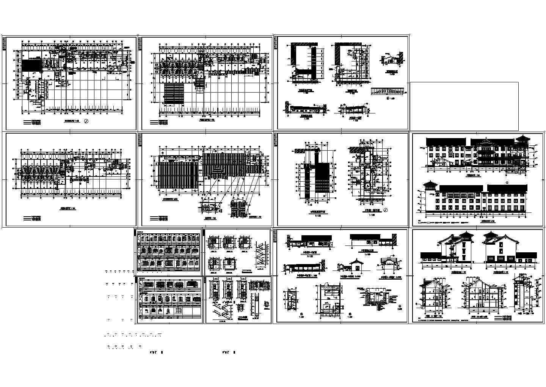 大型太湖古建筑方案设计图纸图片1