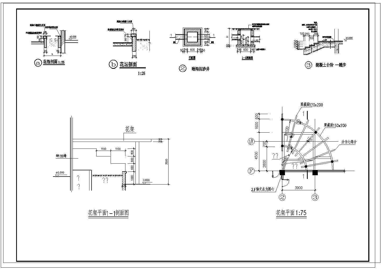 某学校广场平面图设计方案图片1