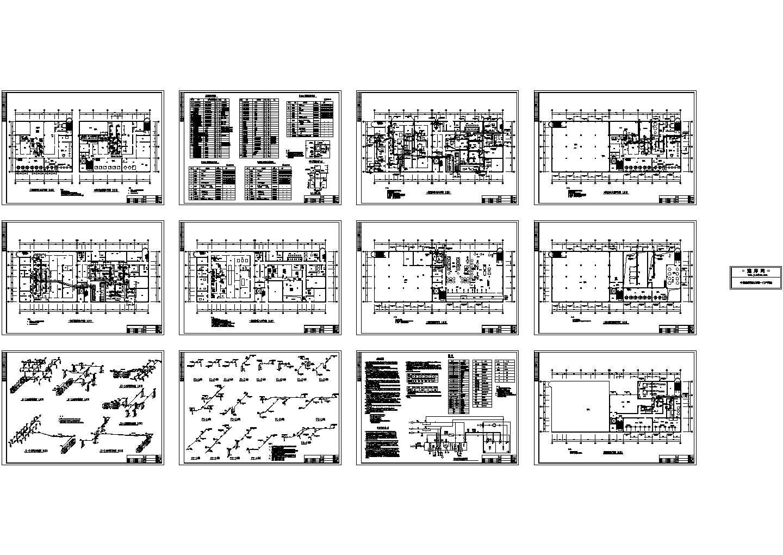 某车间洁净空调系统设计cad施工图(含设计说明)图片1