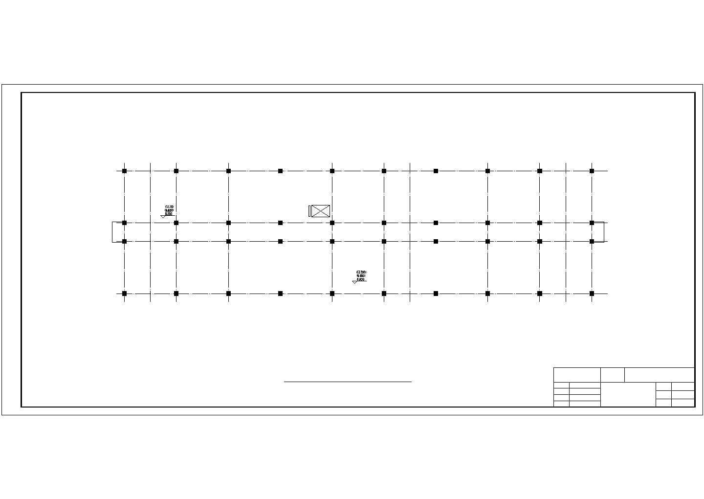 5600平米六层科研所办公楼结构施工cad图纸图片1