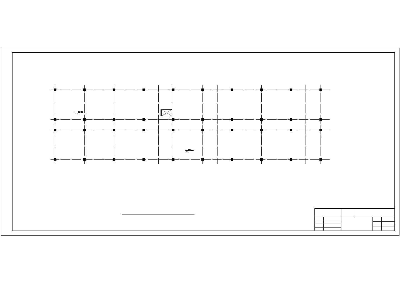 5600平米六层科研所办公楼结构施工cad图纸图片2