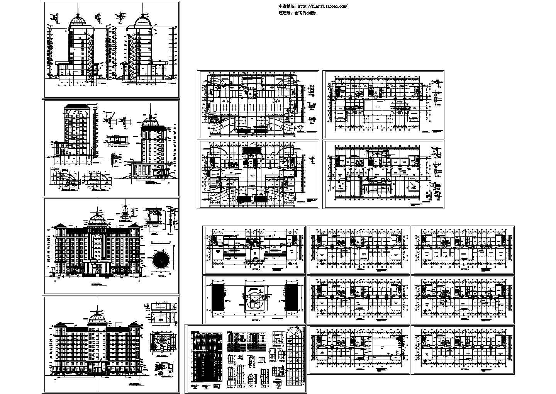 11层欧式行政办公楼建施图,共十七张图片1