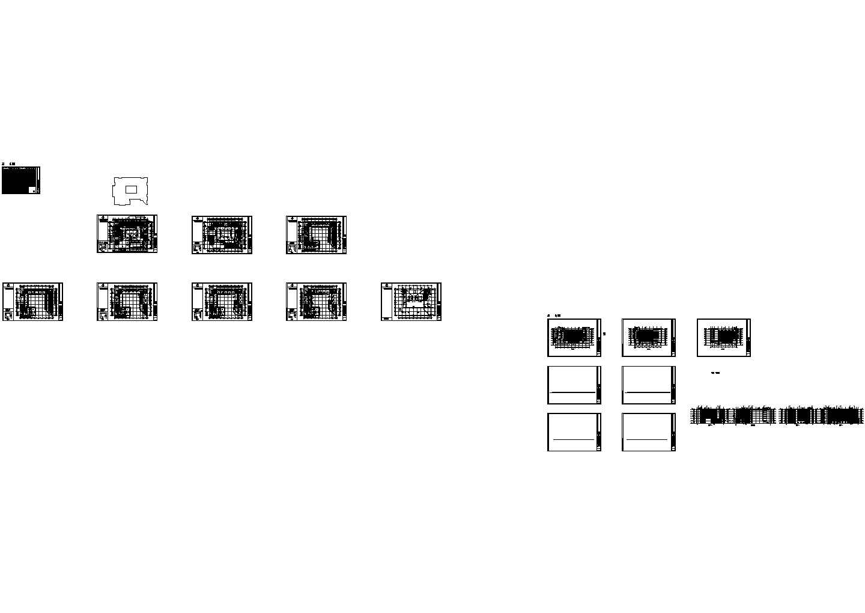 中国原子能科学研究院科技办公楼结构设计cad施工图(含设计说明,含建筑设计,含人防计算书)图片1