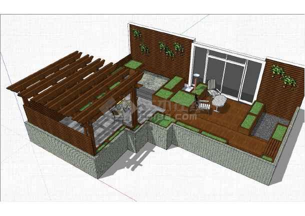 精美花园庭院参考模型-图一