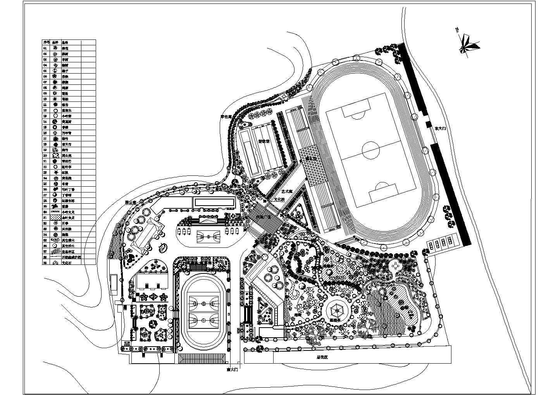 某中学景观绿化规划平面图图片1