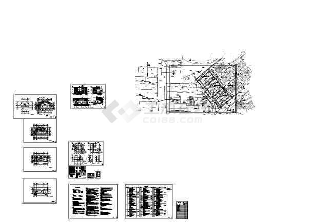 689平方米框架结构多层居住建筑设计cad图,含设计说明-图二