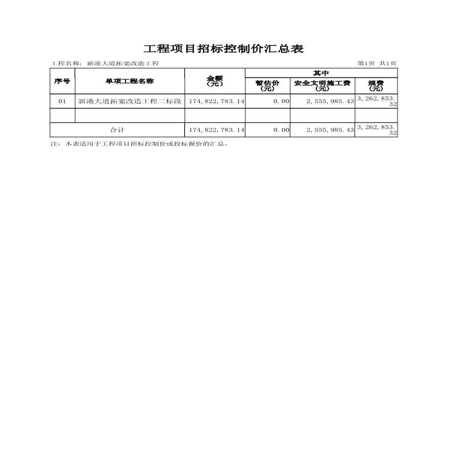道路改造工程量清单文件-图二