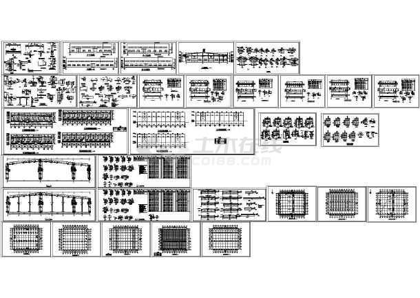 电器厂钢结构厂房设计图-图一
