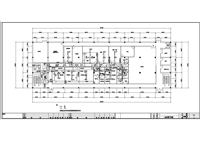 某食用品厂房空调风管平面cad图图片1