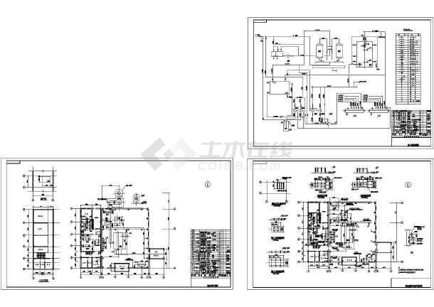20t热水锅炉房设计暖通设计CAD图(6个CAD文件)-图一