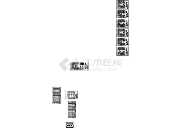 [四川]5层钢混框架结构大学教学楼建筑结构设计施工图-图一