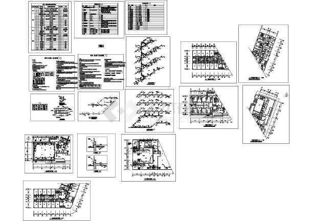 商业综合楼空调通风及防排烟系统设计施工图(风冷热泵机组)-图一