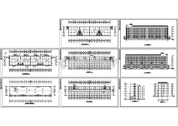 某地区五层单生宿舍楼建筑图-图一