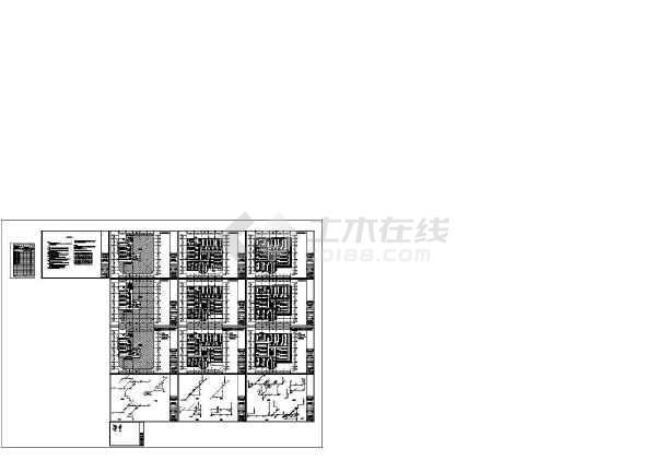 【上海】某地中小型公园给排水设计施工CAD图-图一