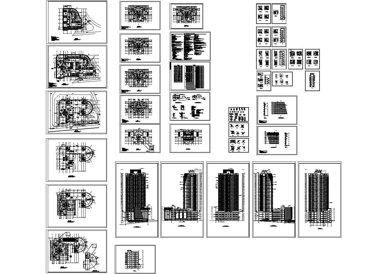 全套32层高层住宅建筑施工图(含施工说明) 总建筑面积:32845.10m2图片1