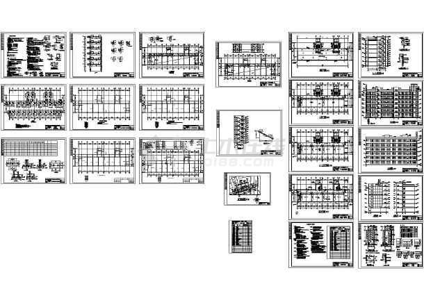 某六层中学教学楼设计(含任务书,开题报告,实习报告,计算书和图纸)-图一