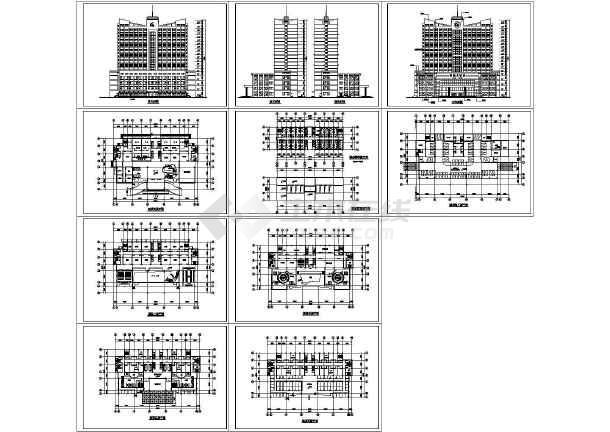 某高层酒店设计方案cad图,共10张-图一