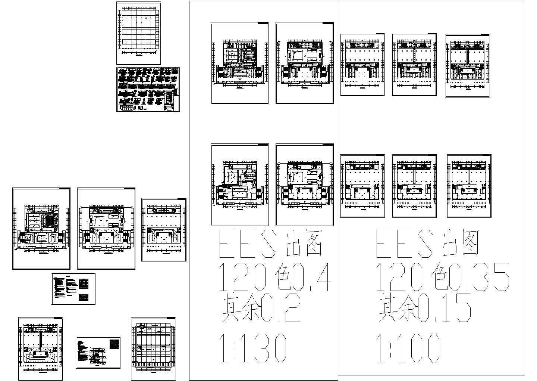 地下1地上4层图书馆电气设计平面、系统图图片1