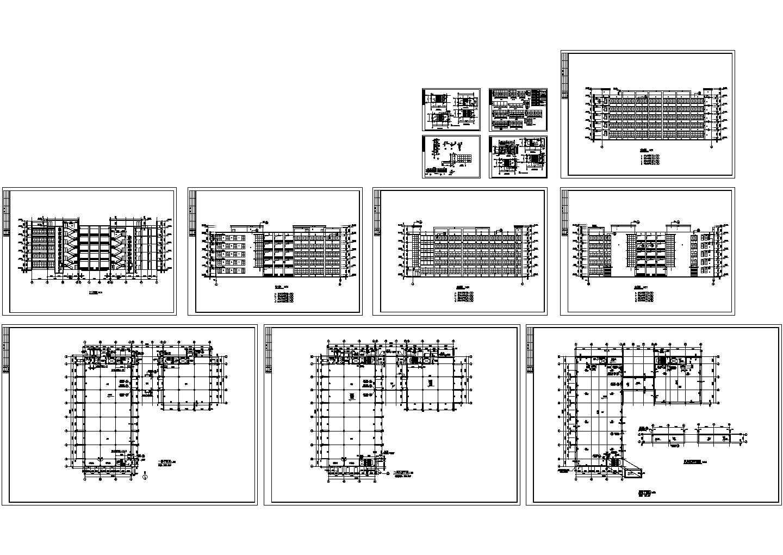 某市多层厂房建筑施工图,含门窗大样图片1