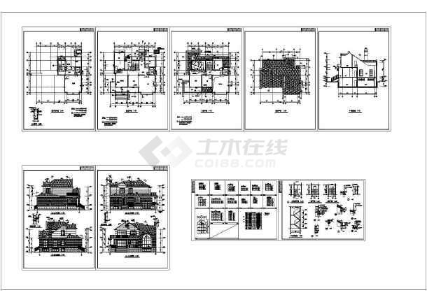 某地上二层框架结构建筑施工图纸-图一