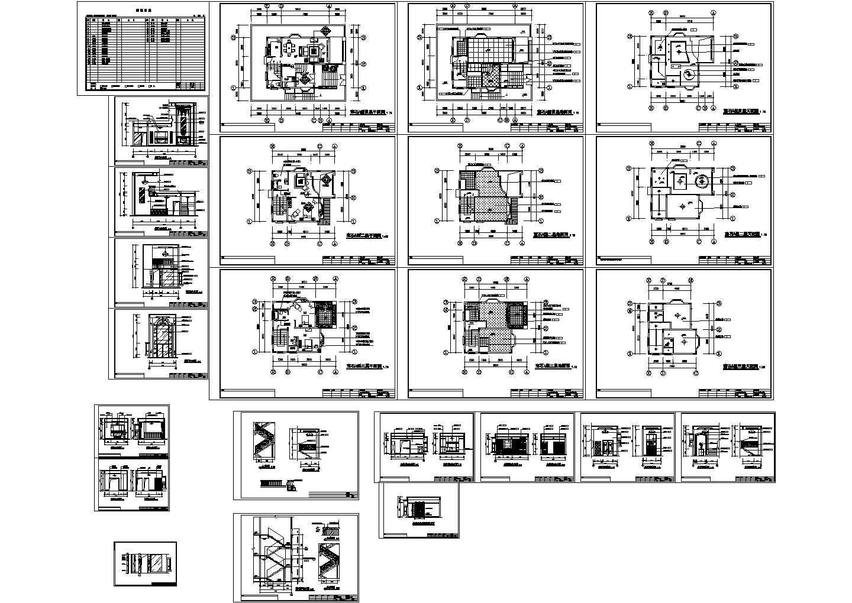 某独栋三层别墅平面天花等详细建筑施工图、透视图等图片1