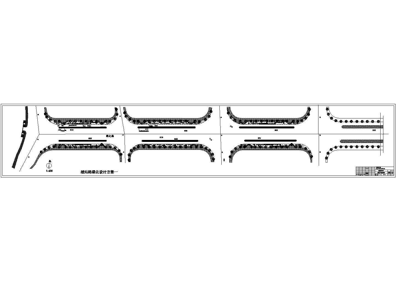 城站路绿化工程总平面设计图图片1