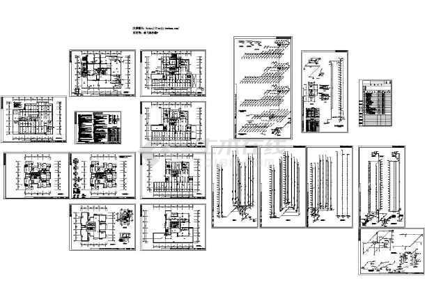 长56.54米 宽39米 -1+24层公寓住宅楼水施-图一