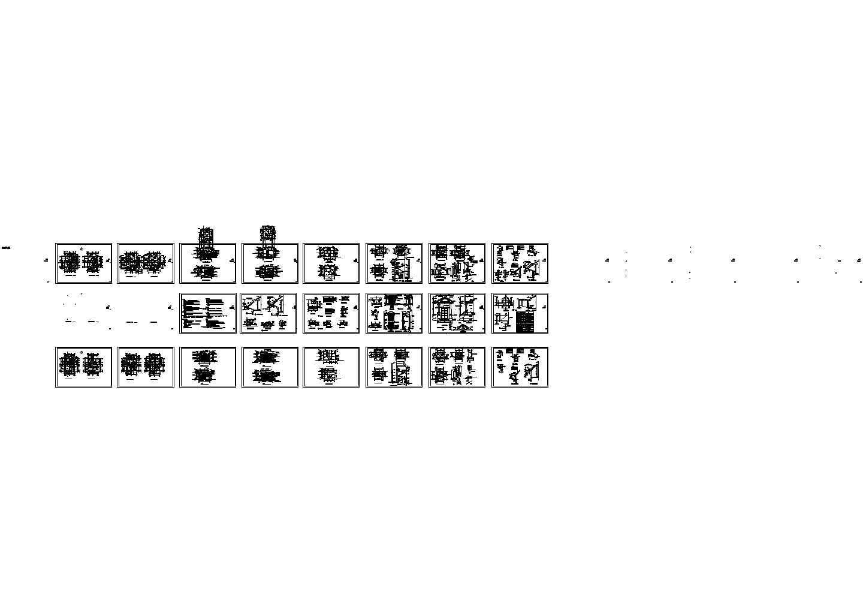 某三层别墅建筑和楼梯平立剖面、卫生间大样等全套设计图图片1
