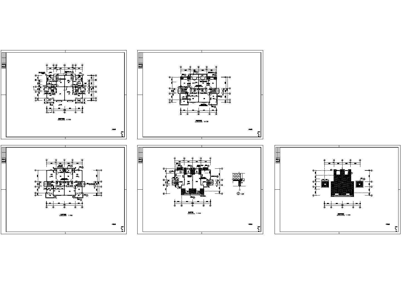 某四层经典别墅的四层平面图以及屋顶平面图图片1
