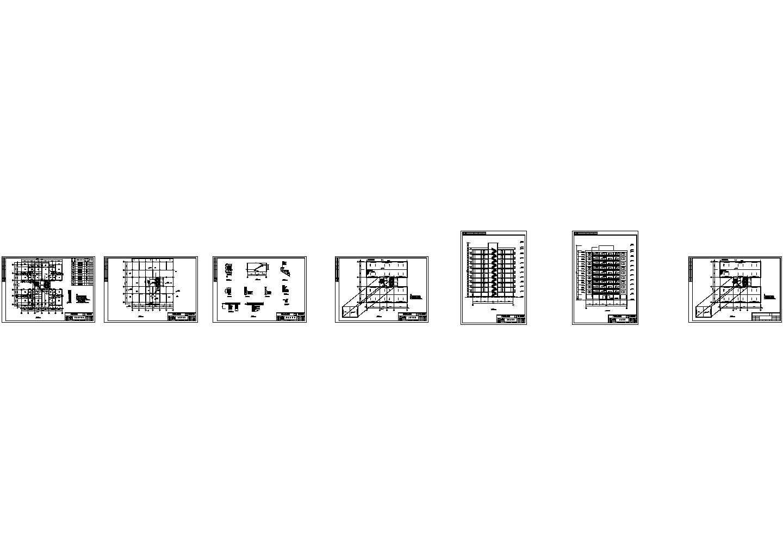 某10层框剪结构住宅楼建筑结构毕业设计图纸(含计算书)图片1