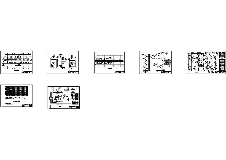 广西工学院土木工程专业毕业施工图设计共七张cad图纸图片1