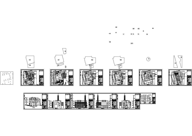 沪东清真寺建筑设计CAD图图片1