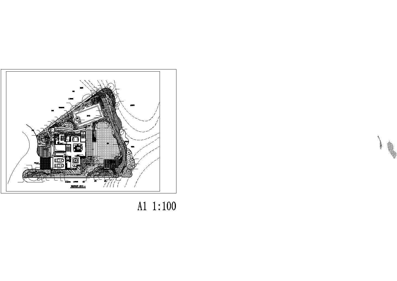 别墅景观绿化方案种植平面图图片1